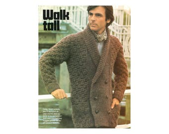 Mens Jacket Crochet & Knitting Pattern