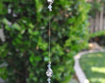 Crystal teardrop suncatcher, prism, Made to order