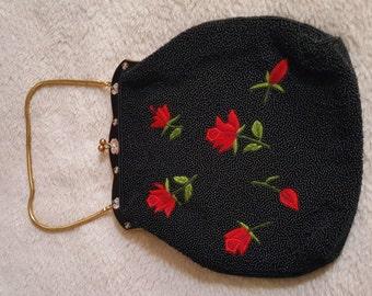 Vintage style heavy beaded purse