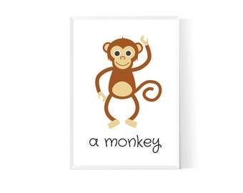 Nursery decor| Nursery animal wall| Animal nursery print| Safari nursery decor| Nursery animals| Woodland animals| Animals nursery art