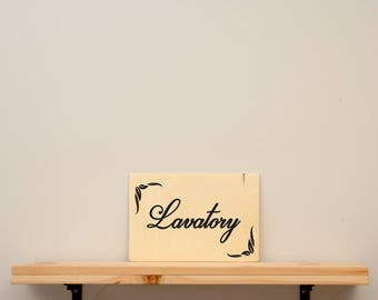 Lavatory - vinyl on varnished wood (choose from a range of colours) - Kids decor