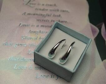 Beautiful Sterling Silver Teardrop Earrings