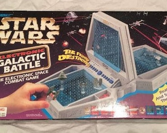 STAR WARS Electronic Galactic Battle GAME Tiger Electronics Space Combat Game 1997 Almost Complete, Missing 3 Pieces