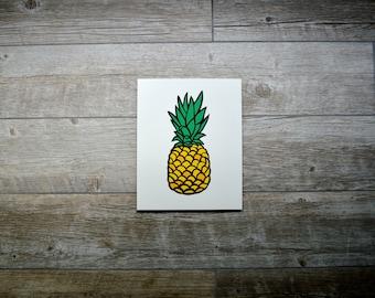 "Pineapple Paper Cut Original Art - Hand Cut 8""x10"""