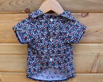 Blue Bloom Dog Shirt