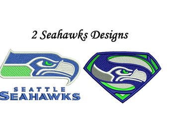 Seattle Seahawks Embroidery Design - 4 inch size instant download
