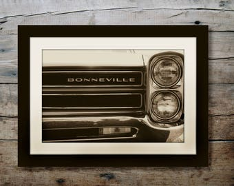 1966 Vintage Pontiac Bonneville Car Headlight | Sepia | *Digital Download Only*