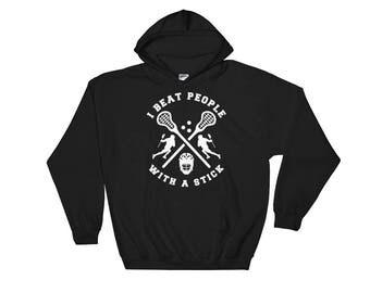 Funny Lacrosse Hoodie - Lacrosse Gift - Lacrosse Player Hoodie - Lacrosse Sweatshirt - I Love Lacrosse - Lacrosse Sticks Hooded Sweatshirt