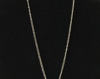 Homemade Green Oval Stone 9 inch Chain Necklace with Lobster Claw Clasp