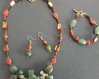 Green Agate and Sunstone