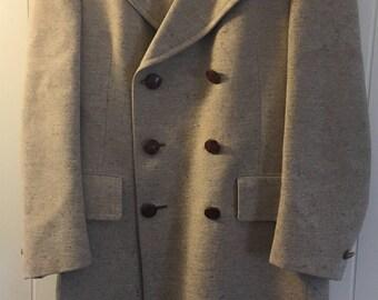 1960s Christian Dior Men's Wool Coat