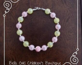 Bubblegum Necklace, Beaded Necklace, Photo Shoot Necklace, Cake Smash Necklace, Accessories, Children's Necklace, Kid's Accessories
