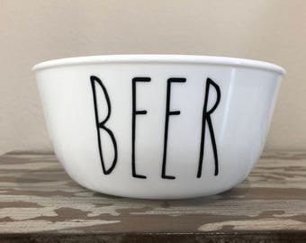 "Dog Bowl ""Beer"" - Dog Dish Pet Bowl Dog Bowl Beer Beer Lovers Beer Bowl Funny Dog Bowl Dog Food Bowl Dog Water Bowl Pet Dish Dog Bowl Set"