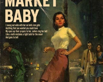 "Tom Waits ""Black Market Baby"" pulp novel paperback mashup print"