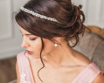 Headband, pearl headband, bridal headband, Pearl bridal tiara, pearl headpiece, Bridal headpeice, pearl tiara, pearl bridal headband