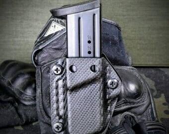 M and P 1.0 and 2.0 9mm 40 S&W Kydex IWB OWB Mag Holster Magazine Carrier Pouch Carbon