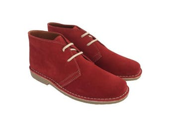 Desert RED suede boots