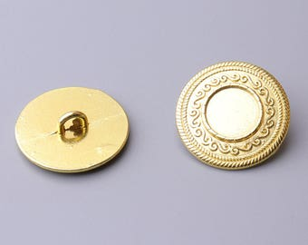 10pcs gold button 20mm round metal button coat button shank button Bohemian style button