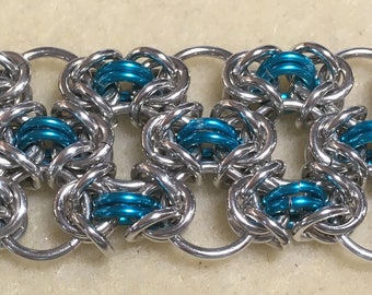 Byzantine Lace Chainmaille Bracelet Tutorial