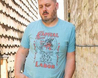 Unisex | Capital and Labor | Edwardian Socialism T-Shirt