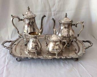 Tea & Coffee Vintage Party Serving Set