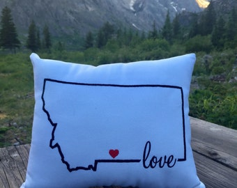 MONTANA - Embroidered Pillow - Script