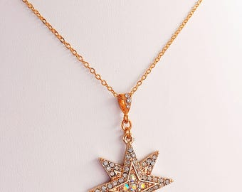 Gold Star Necklace - Star Necklace - Constellation Necklace - North Star Necklace - STARBRIGHT