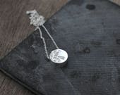 Cylindrical Garden silver necklace