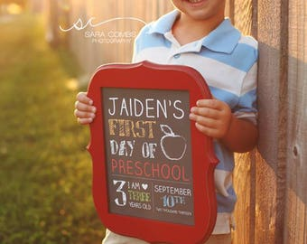 PRINTABLE Basic First Day of School Sign
