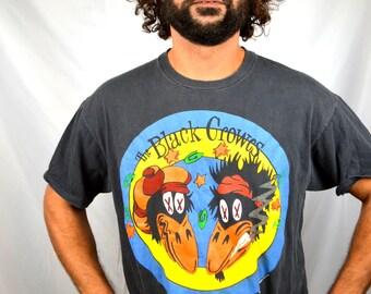 Vintage BLACK CROWES 1992 High As The Moon Tour Tshirt Tee Shirt