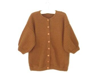 vintage crochet sweater * cardigan sweater * minimalist sweater * vintage sweater * m / l