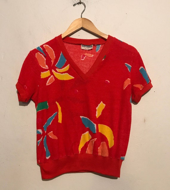 80s Hawaiian Vibes Terry Cloth Top