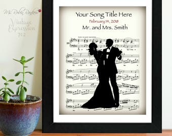 Custom Wedding Song, Wedding Music, Our Song, Anniversary, Love Song, Mr. and Mr., Mrs and Mrs., Mr. and Mrs., Gay Wedding, Print