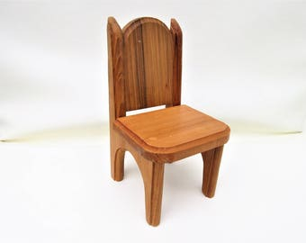 Vintage Wooden Chair | Doll Chair | Doll Furniture | Solid Wood Chair | Plant Stand | Small Shelf