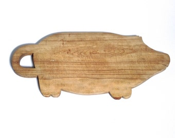 Early Folk Made Pig Cutting Board, Scandinavian Antiques, Farmhouse Kitchen