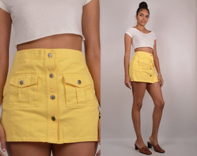 "Vintage SKORT high waisted mini 27""w"