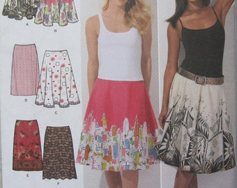 Simplicity 4236 - Great pattern for 6 different skirts. You pick size at checkout. Pattern is uncut and factory folded.
