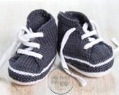 Baskets bébé / Explications tricot en Anglais PDF Téléchargement instantané / Taille Naissance - 3 mois