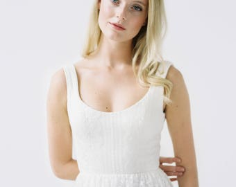 Alix // An embroidered boho wedding dress.