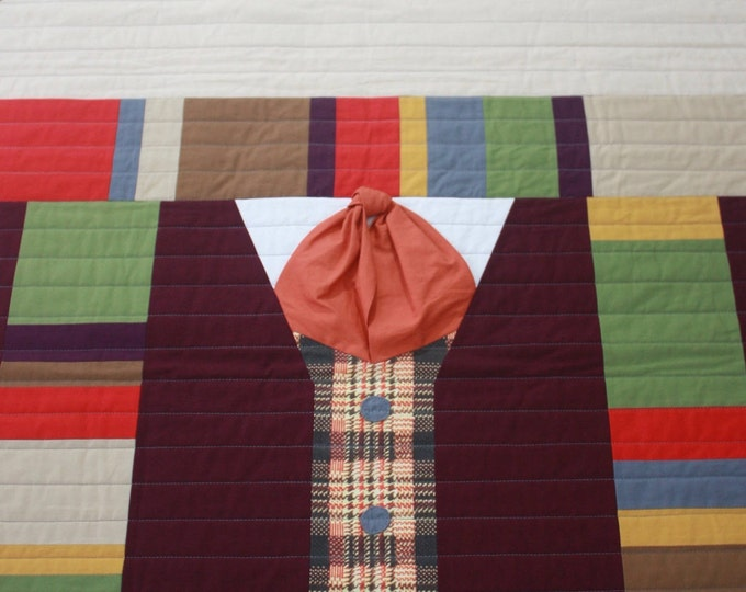 Doctor Who baby quilt--The Fourth Doctor