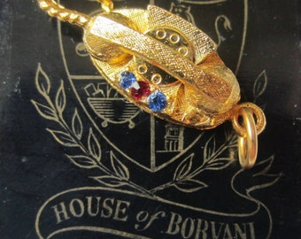 Vintage HOBCO Rotary Telephone Phone Charm HOUSE of BORVANI