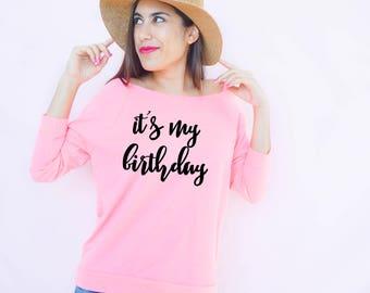 It's My Birthday, 30th Birthday Shirt, Thirtieth Birthday, Birthday Apparel, Birthday Gift, Birthday Shirts, Birthday Girl, Birthday Party