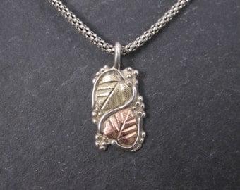 Vintage Black Hills Gold Pendant Necklace Coleman