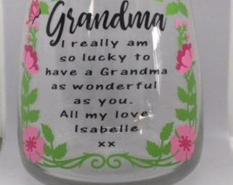 Grandma I really am so lucky vase