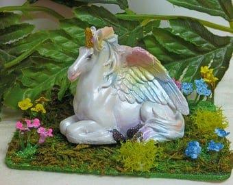 UNICORN, PEGASUS, ALICORN Fairy Figurine, Rainbow Wings, Sparkly, Fairy Kit, Fairy Accessory, Fairy Supply