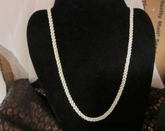 Beautiful Fine Silver Jens Pind Necklace 24 inch long