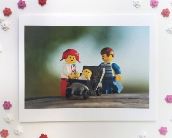 Baby Makes Three  (blank greeting card)