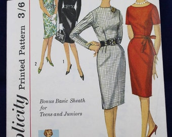1960's Sewing Pattern for a Teen's Dress in Size 16 - Simplicity 4602