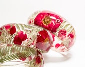 real flower resin bangle, real rose bangle, resin bracelet, real rose bracelet, nature inspired bangle, flower jewelry, flower bangle, gift