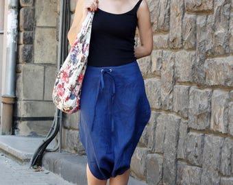 Skirt Pants / Linen Pants / Harem Pants / Drop Crotch Pants, Linen Skirt / Linen Shorts, Bottom Pants / Pants Baggy / Gift for Her / P11716